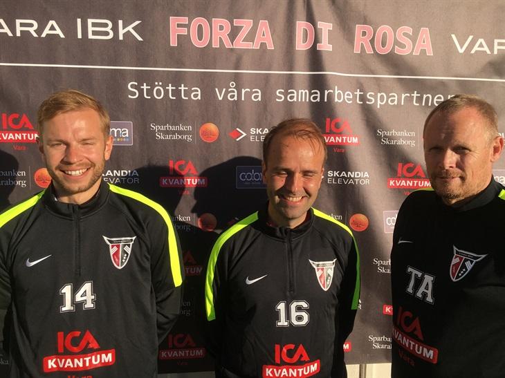 97dea5e47eb Anton Mellegård (t.v), Pasi Heikkinen samt Åke Hofling (t.h) poserade alla  glatt i den soliga junidagen. Vara IBK ...