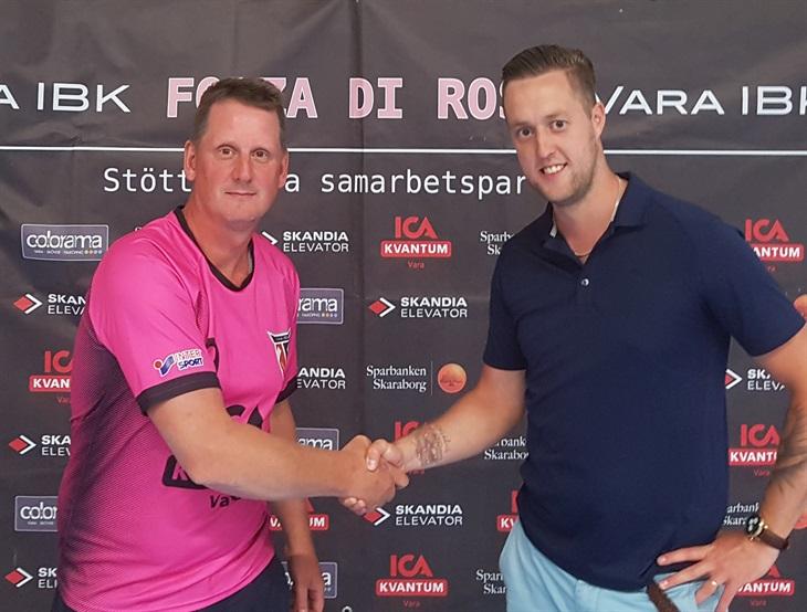 0b9d257d9f0 Roni Sandgren välkomnas i den fina rosa tröjan av Sportgruppen.