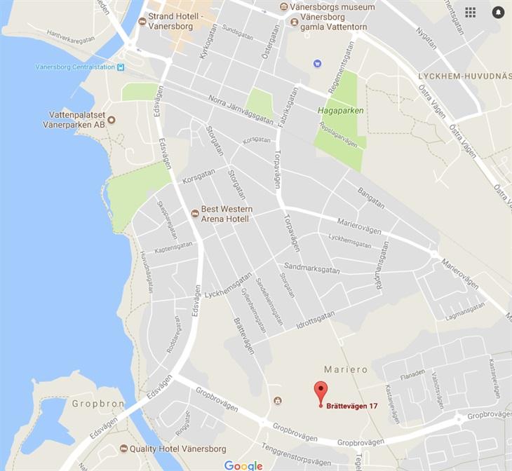 Karta Over Vanersborg Och Hotellen Usm Stockholm Exiles Rfc