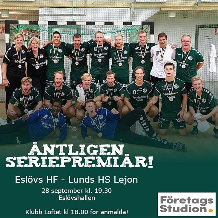 Äntligen seriepremiär! Eslövs HF Svenskalag.se